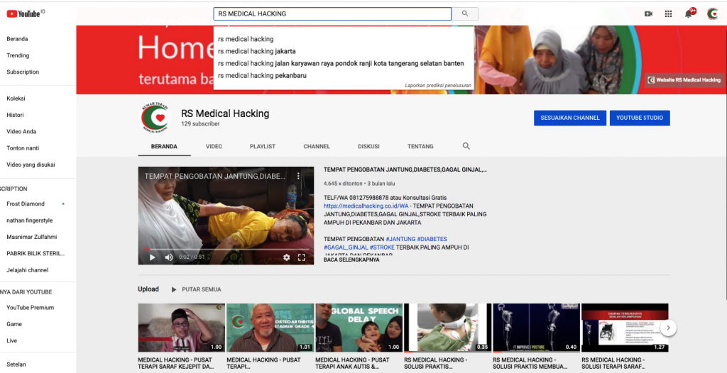 testimoni pasien rs medical hacking cannel youtube