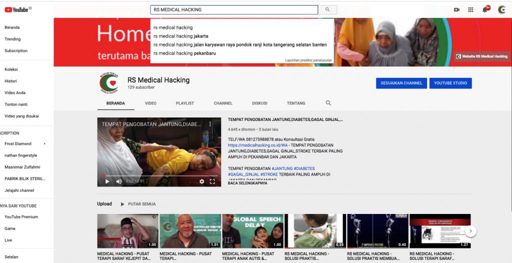 testimoni pasien rs medical hacking cannel youtube